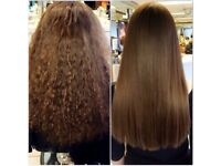 Fully qualified hairdresser offering keratin blowdry treatment