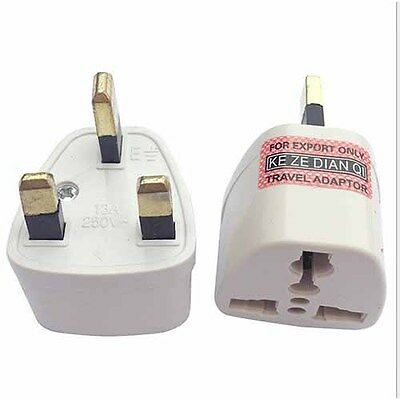 EUROPE/USA/AUSTRALIA to UK GB ENGLAND AC Power Plug Adaptor Travel Converter_su