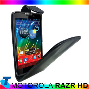 Black Leather Flip Case Cover fr Motorola RAZR HD XT925 XT926 Telstra 4G +Stylus