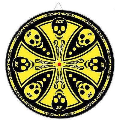 Maltese Cross Skull Throwing Knife Target Dart Board