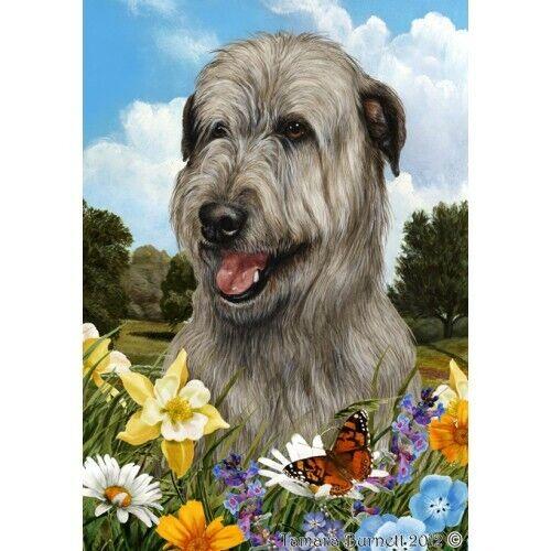 Summer House Flag - Grey Irish Wolfhound 18329