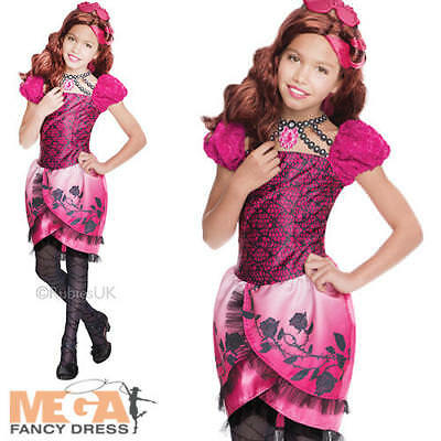 Briar Beauty Girls Ever After High Fancy Dress Fairytale Princess Childs Costume