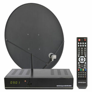 GeoSat Pro HDVR 3500 Satellite Receiver with Dish