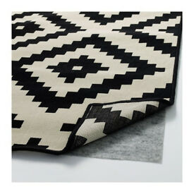 LAPPLJUNG RUTA RUG IKEA Black/White
