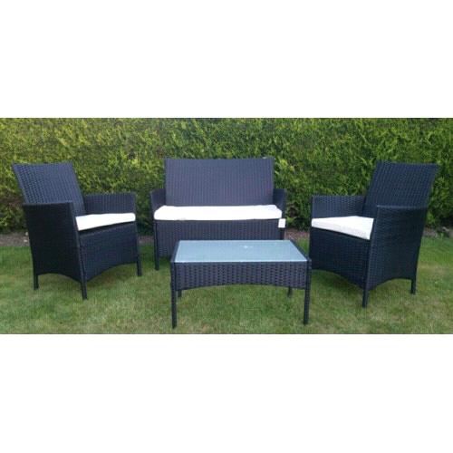 Astonishing New Black Rattan Outdoor Garden Furniture Set In Bournemouth Dorset Gumtree Home Interior And Landscaping Mentranervesignezvosmurscom