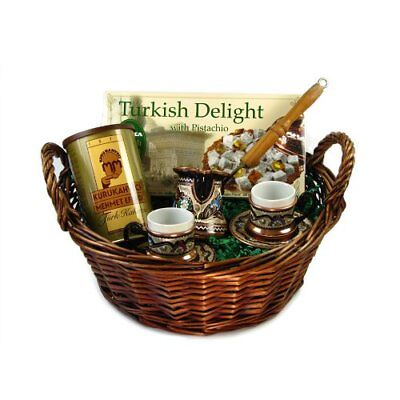Turkish Coffee Sphere Turkish Coffee Gift Basket with A Set for Two