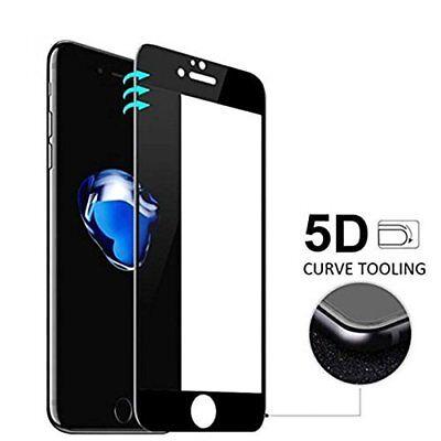 Cristal templado 5D para Iphone 7 y 8 PLUS curvo NEGRO protector...
