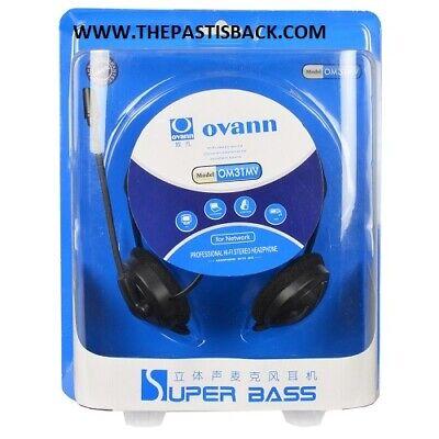 OVANN OM31MV PROFESSIONAL BEHIND THE HEAD Hi Fi STEREO HEADPHONES w/BOOM MIC NEW