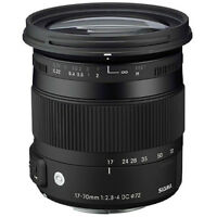 Sigma 17-70 mm Lens for Canon-$400.00