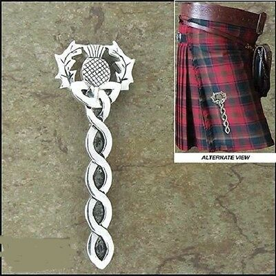 Pewter Scottish Thistle Kilt Pin Pin