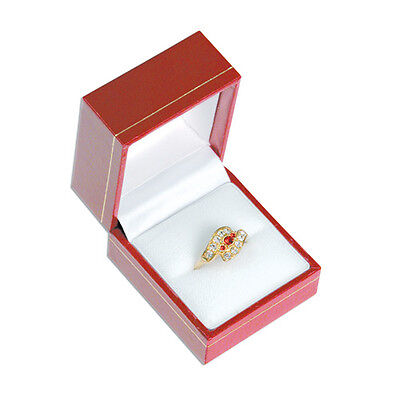 12 Pack Of Classic Red Ring Boxes Ring Jewelry Display Gift Boxes
