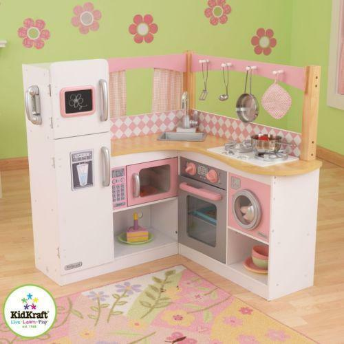 Toy kitchen set ebay for Toy kitchen set