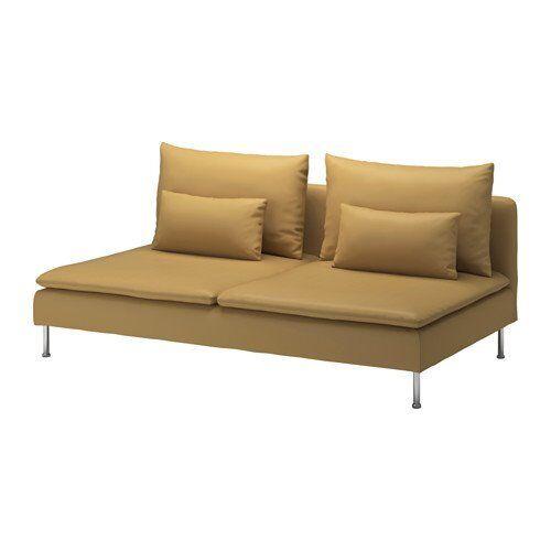 Ikea Soderhamn Sofa Three Seat Section Cover Samsta Dark