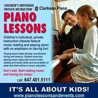 Piano Lessons in Clarkson, Lorne Park & East Oakville