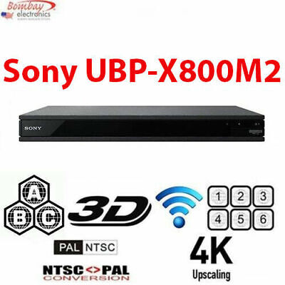 Sony UBP-X800M2 Multi Region 4K Blu-Ray Disc Player with WiF