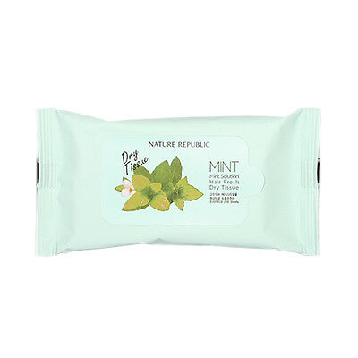 [NATURE REPUBLIC] Mint Solution Hair Fresh Dry Tissue - 1pack (10pcs)