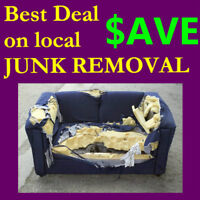 Fast + fair prices on garbage + junk removal / $30.00 n up /