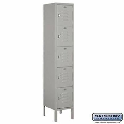 Salsbury 12 Wide Five Tier Box Style Standard Metal Locker - 1 Wide - 5 Feet Hi
