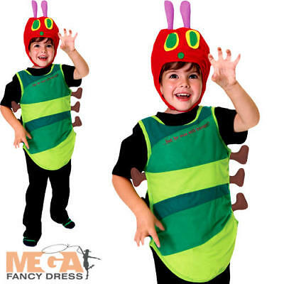 The Very Hungry Caterpillar Kids Fancy Dress World Book Day Bug Childs Costume - The Hungry Caterpillar Costume