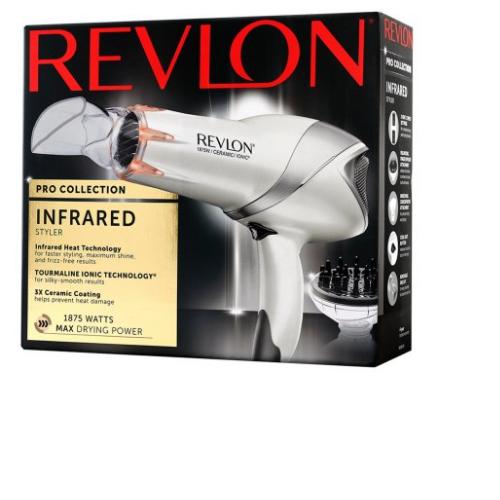 Revlon 1875W Infrared Hair Dryer for Faster Drying & Maximum