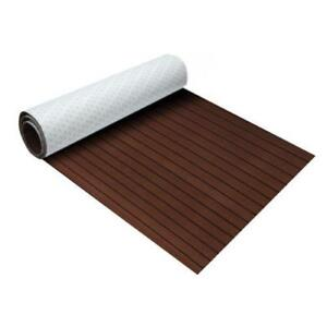 "Dark brown & black Marine Flooring Faux Teak EVA Foam Boat Decking 94.5""x35.4""x0.24""(300193)"