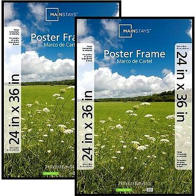 Mainstays 24x36 Basic Poster Picture Frame, Black, Set of 2