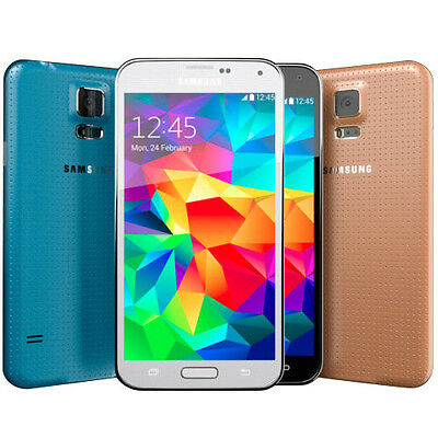 Samsung Galaxy S5 SM-G900A (4G FACTORY UNLOCKED) Black White Gold (A)