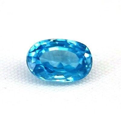 TOP COLOR ZIRCON : 1,64 Ct Natürlicher Blau Zirkon aus Kambodscha