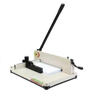 "New!  12"" Manul High-End Guillotine Stack Paper Cutter  Or  size17"""