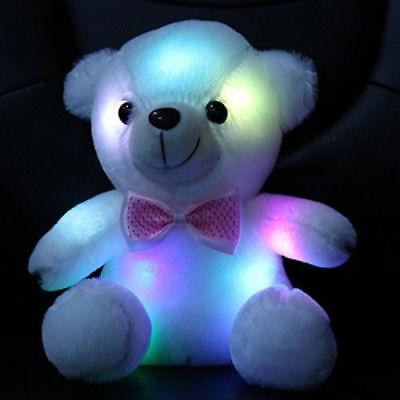 Toys for Girls LED Stuffed Cute Bear Toy Kids Night Light Lamp Girl Xmas Gift - Kids Light Toys