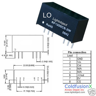 Dc Converter Isolated Power Module In 9v-18v Out 5v 2w
