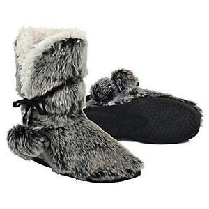 Faux Fur Slipper Boots