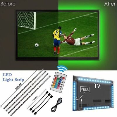 USB Powered Computer TV Backlight Kit RGB Colour Change 5050 LED Light Strip US