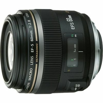 Near Mint! Canon EF-S 60mm f/2.8 USM Macro - 1 year