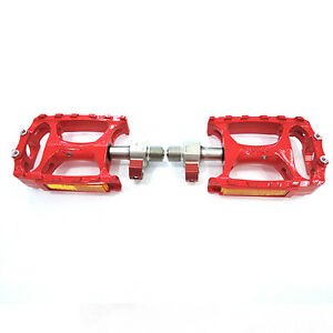 Wellgo-9-16-QRD-M138-Aluminum-MTB-Bike-Pedals-Red