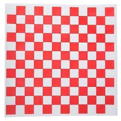 Red & White Checkered 12 X 12 Deli Basket Liner Sandwich