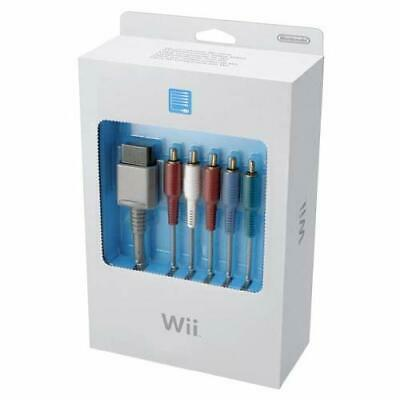 Component Video Cable For Wii Gray AV Nintendo OEM Grey Very Good 1E Component Video Cable Nintendo Wii