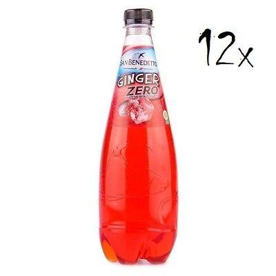 12x San Benedetto Ginger zero PET Flasche ohne zucker 75cl Ingwer bitter