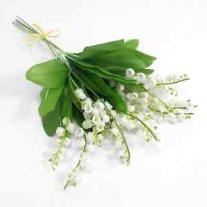 ARTIFICIAL FLOWERS LILY OF THE VALLEY BUNCH Wedding Home Outdoor