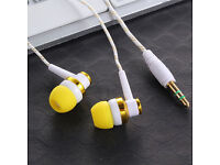3.5mm In-Ear Stereo Earphones Braided Wire White-Gold