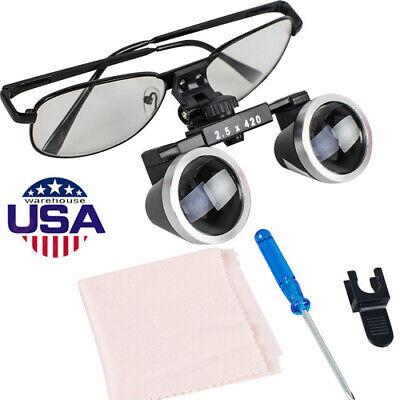 Us Dental Surgical Medical Binocular Loupes Magnifer 2.5x 420mm Glasses Tool Fda