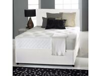 "NEW DIVAN BED SET + MEMORY FOAM 10"" DUAL MATTRESS+ PLAIN HEADBOARD ALL SIZES"