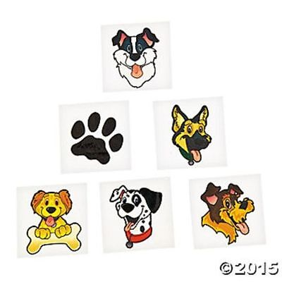 72 Puppy Dog Paw Prints Temporary Tattoos Kids Birthday Party Favor Gifts - Puppy Tattoos