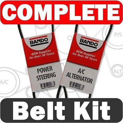 Alternator Belt (Serpentine Drive Belt Set 2001-2005 Honda Civic 2 pcs Alternator-AC-Power)