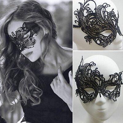 Gothic Maske Augenmaske Venezianische Spitzenmaske schwarz Gesichtsmaske Damen