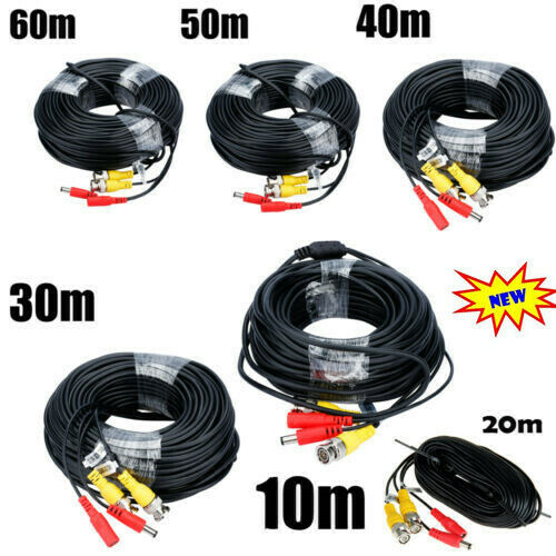 10/20/30/40/50/60M BNC CCTV DVR Camera Recorder Video DC Power Security Cable - $22.99
