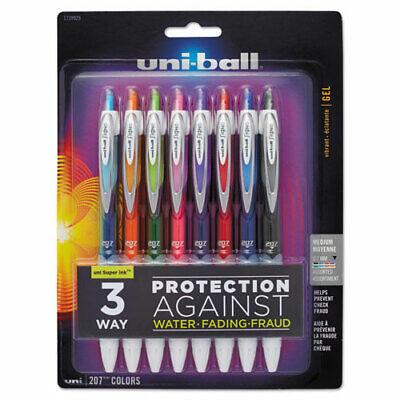Uni-ball Signo 207 Retractable Gel Pen Medium 0.7mm Assorted Inkbarrel 8set
