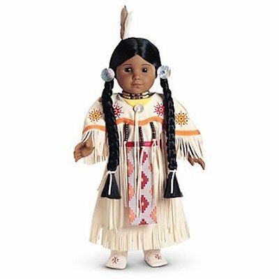 NIB  American Girl KAYA 's white DANCE DRESS OF TODAY Set 1st Edition Pow Wow!!!