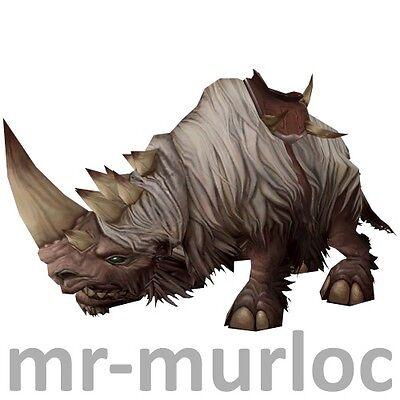 Weißes Wollrhinozeros ✯ Wooly White Rhino ✯ WoW TCG Mount ✯ Loot Item Reittier