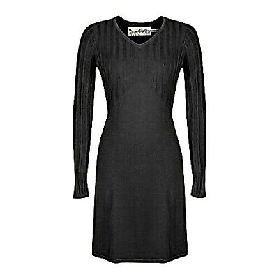 Aventura Bacall Ribbed Organic Cotton Long Sleeve Sweater Dress L $80